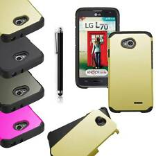 Hybrid Rugged Rubber Matte Hard Box Case Cover Skin for Android Phone LG Phones