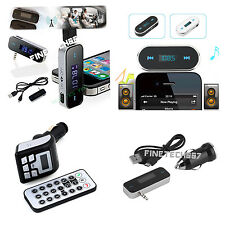 Wireless Music to Car Radio FM Transmitter For 3.5mm MP3 iPod Phones Tablets FS1