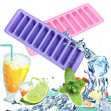 Hot Silicone Cylinder Ice Cube Tray Freeze Mould Jelly Chocolate Mold Tool