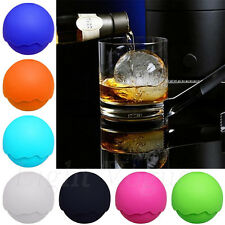 Hot Whiskey Ice Cube Silicon Ball Maker Mold Party Mould Round Tray Bar 0057