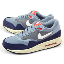 Nike Wmns Air Max 1 Essential Blue Grey/Bright Crimson-Loyal Blue 599820-400