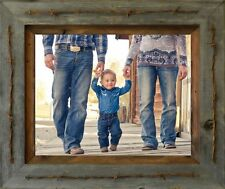 NEW FARMHOUSE TEXAS RUSTIC BARBED WIRE BARN WOOD PICTURE PHOTO FRAME DECOR