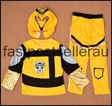 Transformers Bumblebee Boys Kids 3pc Costume Set  Party Dress Up Outfit Cosplay