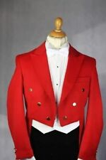 2016 Tailcoat Groom Red (Jacket+Pants+Tie+Vest) Men Wedding Tuxedo Formal Suits
