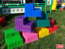 Classic Show Jumps 2-STEP MOUNTING BLOCK - PORTABLE mount aid 4 your horse CL331