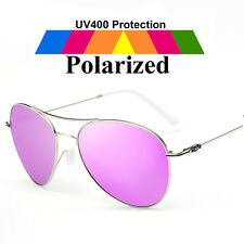 Retro Designer HD Polarized Sunglasses Mens Womens Metal UV400 Mirrored Eyewear