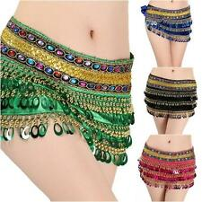 8 Colors Women Lady Belly Dancing Hip Scarf Tassel Belt Waist Chain with Sequins