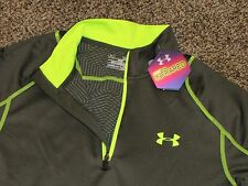 Men's UNDER ARMOUR FITTED 1/4 ZIP LONG SLEEVE PULLOVER SHIRT 1248937 308  Green