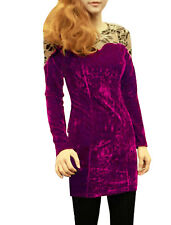 Ladies Round Neck Lace Long Sleeve Panel Straight Fashion Dress