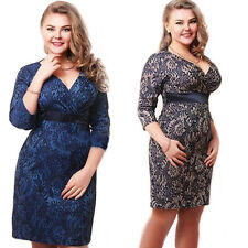 Womens V-Neck Floral Bodycon Evening Party Plus Size Summer Casual Light Dress