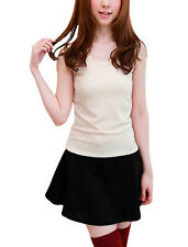 Ladies Scoop Neck Casual Summer Pullover Two Tone Mini Dress