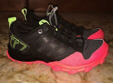 NEW Womens Size 5 ADIDAS Kanadia 7 Trail Black Reddish Pink Yellow Running Shoes