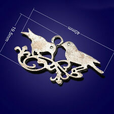 P999 Wholesale Magpie Tibetan Silver jewelr accessories DIY Pendant 5-20pcs