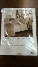 New Kylie Minogue Designer Duo Oyster Cream Bedding Duvet Cover, Pillowcases