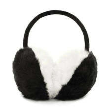 Ladies Color Block Quilted Plush Coated Ear Warmer