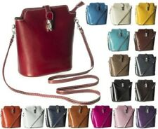 Big Handbag Shop New Plain Mini Real Leather Cross Body Messenger Bag