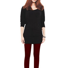 Scoop Neck Bat Wing Sleeve Lacing Back Tunic Shirt for Women