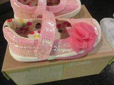 Morgan & Milo Infant Girls Pink Sparkle Mary Jane Shoes   Size 4, 5, 6, 7   NEW