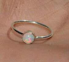 St. Patrick's day Offer Natural Ethiopian Opal 925 Sterling Silver Ring Jewelry
