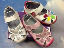 Pediped Grip 'n' Go Daisy Hook & Loop Leather Sandal Size 20/US Toddler Size 6.5