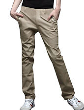 Mens Korean Stylish Straight Casual Pants Trousers Zizah