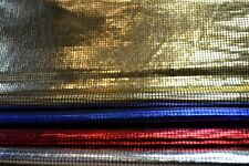 "Small Square Metallic Shiny Foil Lame Dress Craft Dance Fabric Material 60"" wide"