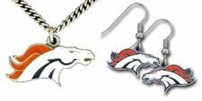 Officially Licensed NFL Chain Necklace Pendant and Earring Set Choose Your Team
