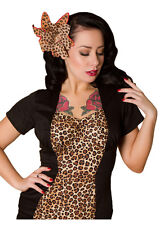 New Rockabilly 50s Wiggle Dress, Leopard Print & Cute Kick Pleat, STUNNING, XS-L