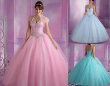 Strapless Quinceanera Dress Tulle Sweetheart Formal Prom Party Ball Wedding Gown