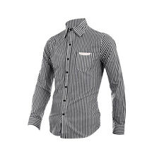 Stylish Point Collar Long-Sleeved Buttoned Cuff Shirt for Man