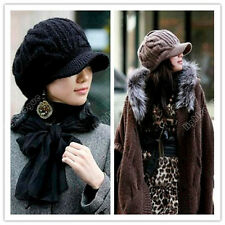Korean Winter Warm Women Crochet Knit Ski Beanie Wool Peaked Hat Cap Fashion 30