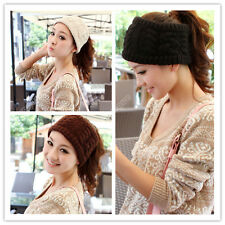 New Lady Crochet Twist Knitted Headwrap Headband Ear Winter Warmer Hair Band 83