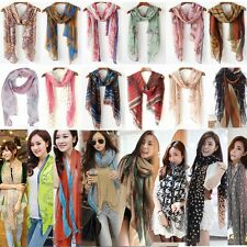 Womens Ladies Long Soft pattern Scarf Wrap Large Shawl Stole Scarves