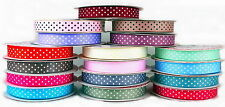 16MM GROSGRAIN POLKA DOT-SPOTTY RIBBON-CHOICE OF COLOURS AND LENGTHS