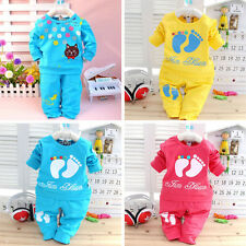 Baby Boy Girl Toddler Tee Outfits Infant Tops T Shirt Pants Kids Sets Cat Suits