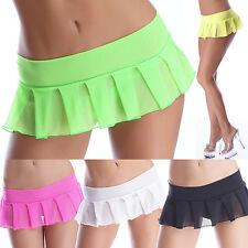 Sexy Gogo Mini skirt Supermini Pleated Kilt Dancewear Strip Club Poledance neon