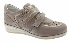 sneaker art C3659 beige velcro taupe perforated orthopedic shoe woman Loren