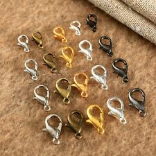 100Pcs Plated Lobster Clasps Hooks Claw Buckle Necklace Bracelet Accessories Kit