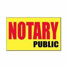 Notary Public Promotion Business Corrugated Car Door Magnets Magnetic Sign-QTY 2