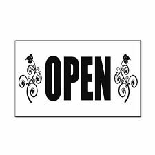 Open Business Advertisement Corrugated Car Door Magnets Magnetic Signs-QTY 2