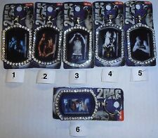 2PAC/Tupac Bling Keychain (Choose from 6 Styles) BRAND NEW FACTORY SEALED
