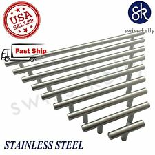 25 Pack Solid Stainless Steel T Bar Pull Handles Cabinet Kitchen Hardware Handle