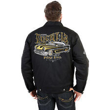 Men's Lucky 13 Pure Evil Chop Shop Style Jacket Rockabilly Hot Rod Lead Sled
