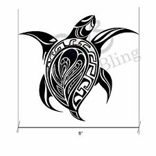 "Sea Turtle Tribal 6""x 5.25"" Die Cut Vinyl Decal Sticker Car Window Bumper Laptop"