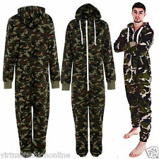 New Unisex Mens Camouflage Womens Onesie All In One Ladies Jumpsuit M L XL XXL