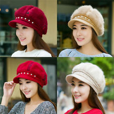 Winter Women Warm Knitted Crochet Slouch Baggy Beanie Hat Crochet Cap Beret 0187