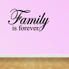 Wall Decal Quote Family Is Forever Family Wall Sticker Decor