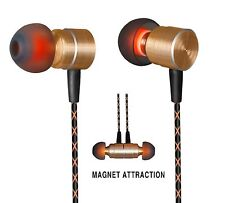 Magnet Attraction In-Ear Heaphones with Mic Audifonos c/Microfono