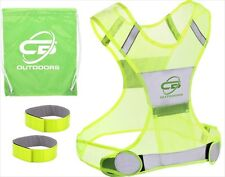 Reflective Vest with 2 Reflective Armbands and Carrying Bag