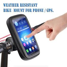 Motorcycle Bike Handlebar Holder Mount Waterproof Bag Case for Mobile Phone GPS